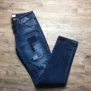CAbi Slim Boyfriend patchwork jeans
